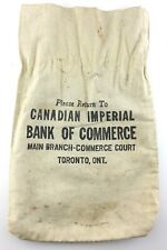 Canadian Imperial Bank of Commerce Money Bank Bag Canvas Toronto Ontario Q796