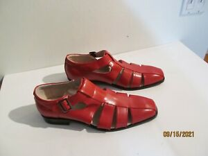 Stacy Adams Men's Red Fisherman Sandals Shoes Size 13 NWOB