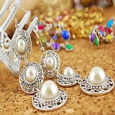 Women's Jewelry Boho Vintage Pearl on Alloy Circle Chandelier Earrings Fashion