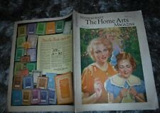 HOME ARTS NEEDLECRAFT MAY 1935 SPRING -TONIC FOR FROCKS ,HOOKING, CROCHET-KNIT
