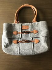 Kate Spade Whistler Quinn Gray Wool Leather Toggle Handbag Purse Fall Winter