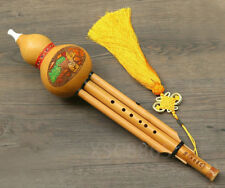 Natural Bamboo Gourd Flute To Learn Chinese Musical Instruments葫芦丝笛