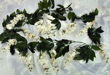 Wisteria Garland ~ LIGHT IVORY CREAM ~ Silk Wedding Flowers Arch Gazebo Decor