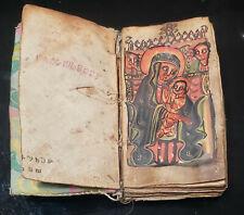Ethiopian Orthodox Coptic Bible Ge'ez Manuscript Written on Vellum Prayer Book
