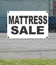 2x3 MATTRESS SALE Black & White Banner Sign NEW Discount Size & Price FREE SHIP