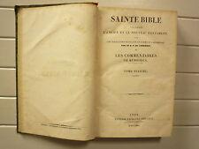 SAINTE BIBLE TOME 6 PSAUMES TRAD DE CARRIERES COMMENTAIRES MENOCHIUS RUSAND 1834