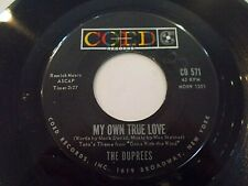The Duprees My Own True Love / Ginny 45 1962 Coed Vinyl Record