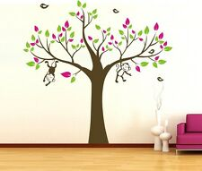 MONKEY Tree 2.3M Removable Wall Art Stickers Kids Nursery Baby Room Vinyl Decals