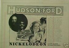 1974 Hudson-Ford Nickelodeon Album/Record Promo Art Ad