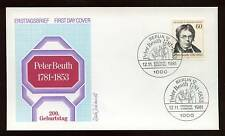 Berlin 1981 Peter Beuth FDC