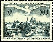 """FRANCE TIMBRE STAMP AVION N°20 """"12e CONGRES, LES PONTS DE PARIS"""" NEUF XX TTB"""