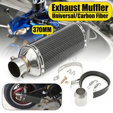 38-51mm Universal Motorcycle Carbon Exhaust Muffler Pipe w/ Removable