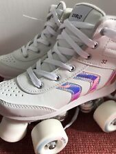 Oxelo Girls Quad Roller Skates - White, Size EU 32 (Very Good Condition)