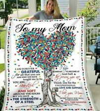 To My Mom Thank You For The Unconditional Love and Support Fleece Blanket