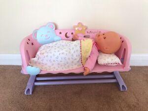 nenuco cradle sleep with me doll Baby Crib Cot Rare 2012