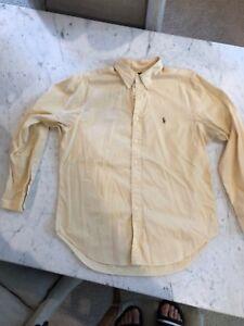 Ralph Lauren Polo Dress Shirt Yellow Classic
