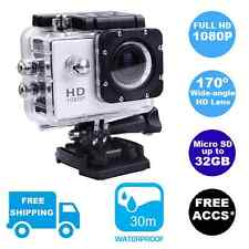 New Sports Action Video Waterproof Camera 1080P HD Gopro Go Pro Mount Compatible