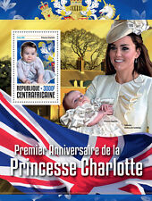 Afrique centrale rep 2016 neuf sans charnière princesse charlotte 1st anniv 1v s/s royalty timbres