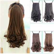 Fashion Curly Big Wave Long Ponytail Horsetail Braid Hair Extensions Bundled Wig