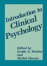 Introduction to Clinical Psychology-ExLibrary