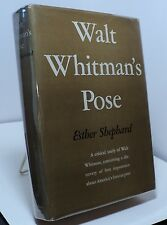 Walt Whitman's Pose by Esther Shephard - First edition - 1938