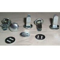 WK2 Nieten Stahlhelm Splinte Helmsplinte gestempelt Helmnieten x 3 Sets