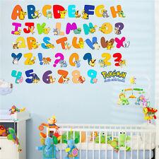 Pokemon Alphabet Wall Sticker Wall Decals Removable Kids Art Size 90x60cm