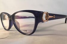 GUCCI EYEGLASSES Frame GG3728 Translucent Blue Gold Ornate 55-15-120.Optyl.ITALY