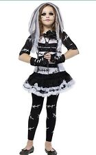 GIRLS MONSTER BRIDE COSTUME SIZE MEDIUM 8-10 ZOMBIE NEW IN PACKAGE