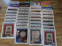 Lot Of 38 Vintage Cross Stitch Magazines