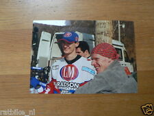 F097- JOEL SMETS EN STEFAN EVERTS 2001 YAMAHA L&M MOTOCROSS MX CROSS PHOTO