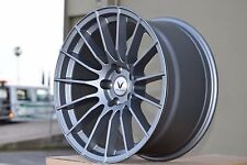 "18"" 18x9.5 18x10.5 Valken VK-1 Wheels Rims 5x114.3 +15 +22 Concave Staggered new"
