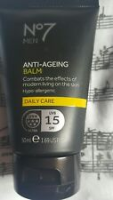 🍀No7 Boots Mens Anti-Ageing Balm 50ml Daily Care (SPF 15) New RRP £12.50🍀