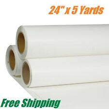 "24"" x 180"" Printable PU Heat Transfer Vinyl Roll HTV T-shirt Iron on White"