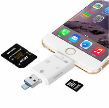 Up to 32GB Lightning i-Flash Drive SD/TF Memory Card For iPad iPhone iPod Touch