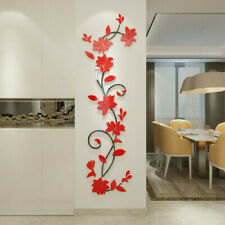 US 3D Flower Decal Vinyl Decor Art Home Living Room Wall Sticker Removable Mural