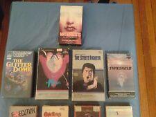 Lot of Rare VHS Films CULT STREET FIGHTER HORROR Big Box Martial Arts Echo Park