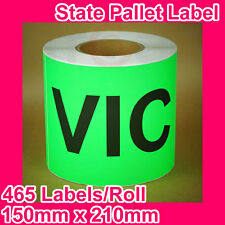 5 Rolls of State Label/Pallet Label - VIC (150mm x 210mm, 2325 Labels in total)