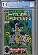 Transformers #8 CGC 9.0 1985 Marvel Comic: Dinobots... NEW Frame