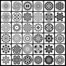 36 Pack Mandala Dot Painting Templates Stencils For DIY Rock Painting Art