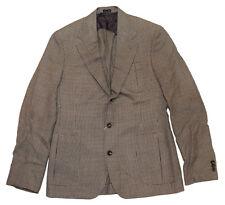 Polo Ralph Lauren RRL Mens Houndstooth Sport Coat Blazer Italy Brown Beige 40R