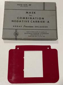 kodak mask for combination negative carrier A DUO SIX 20 1 5/8 X 2 1/4 A1012