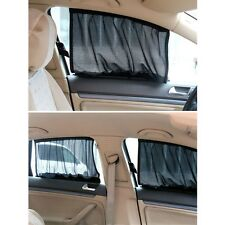 Adjustable Black VIP Car Window Windscreen Mesh Style Curtain Sun Shade Visor
