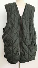 MEN BARBOUR A855 QUILTED WAISTCOAT GREEN SIZE C44 112CM