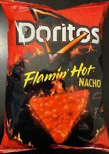 NEW DORITOS FLAMIN HOT NACHO FLAVORED CHIPS 9 3/4 OZ BAG FREE WORLD SHIPPING