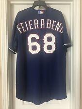 TEXAS Rangers Ryan Feierabend 68 official GAME WORN MLB JERSEY Sz 50 XL 2XL