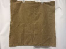 "EURO pillow cover TAN suede feel soft 26"" square zipper closure set of 2 NICE #6"