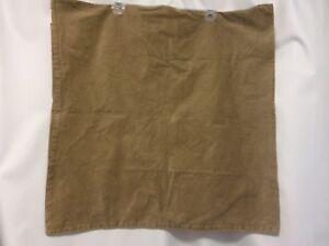 "EURO pillow cover TAN suede feel soft 26"" square zipper closure set of 2 NICE #6"