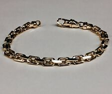 14k Solid Rose Gold Handmade Anchor Link Mens chain/Bracelet 8 26 grams 5.5MM