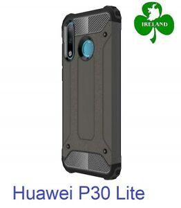 For Huawei P30 Lite Case Black Luxury Armor Shockproof Hybrid Design Case New